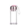 10oz clear glass double water tea bottle infuser bottle