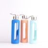 Water carafe glass bottle with slicone cover
