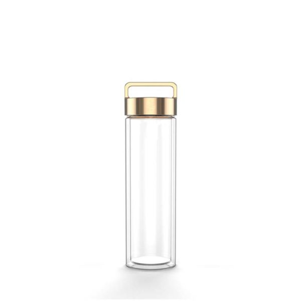 Glass water bottle drink bottle handle with beautiful design