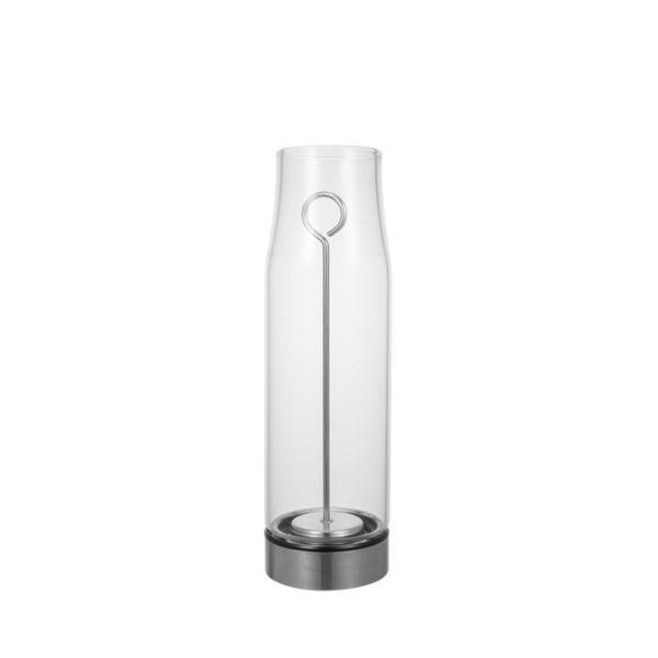 Fruit infuser glass water bottle
