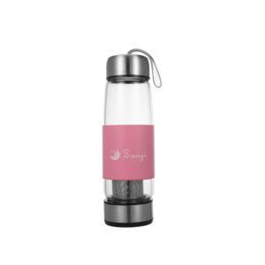 Glass infuser bottle double side open water bottle 500ml