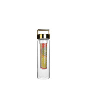 fruit insufer glass water bottle
