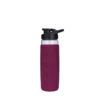 20oz square shape silicone cover glass bottle