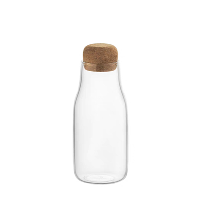 Water glass for ice juice fruit bottle with cork