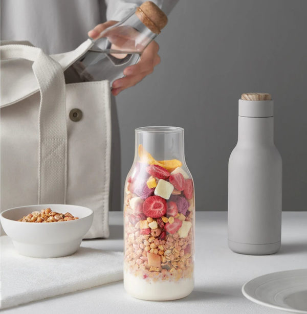 Water glass container fruit bottle storage glass drink bottle