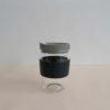 Glass travel mug eco-friendly reusable coffee cup with resistant cork band 10oz 1