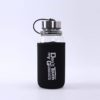 Large travel bottle with handle protective neoprene cover 35oz