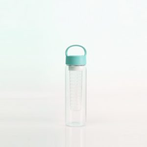 Sports bottle on- the-go heat resistant glass fruit infuser 20oz
