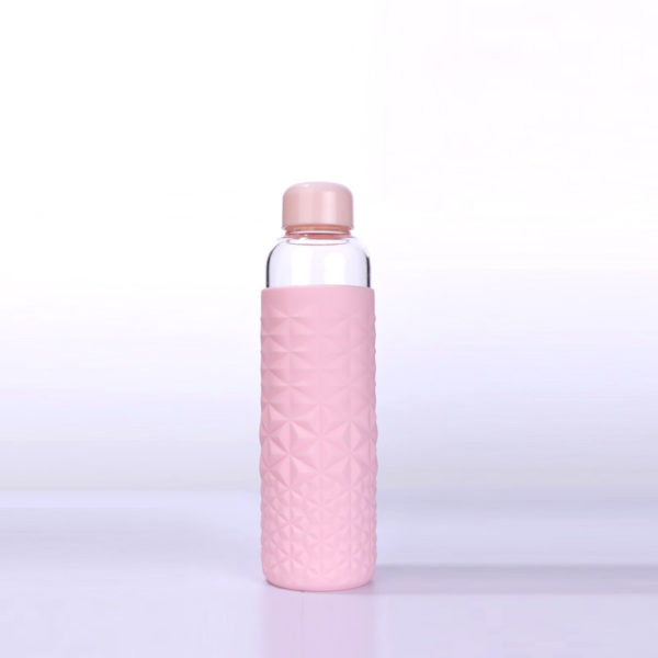 21oz premium water bottle with thick silicone diamond shape sleeve for sports Gym and travel