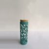 Glass tumbler with lid and straw coffee mug 21oz