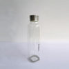 Large square shape bottle glass with steel lid 30oz 2