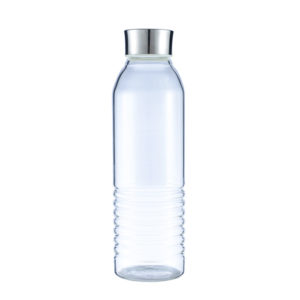 bottle tumbler glass with steel lid 30oz