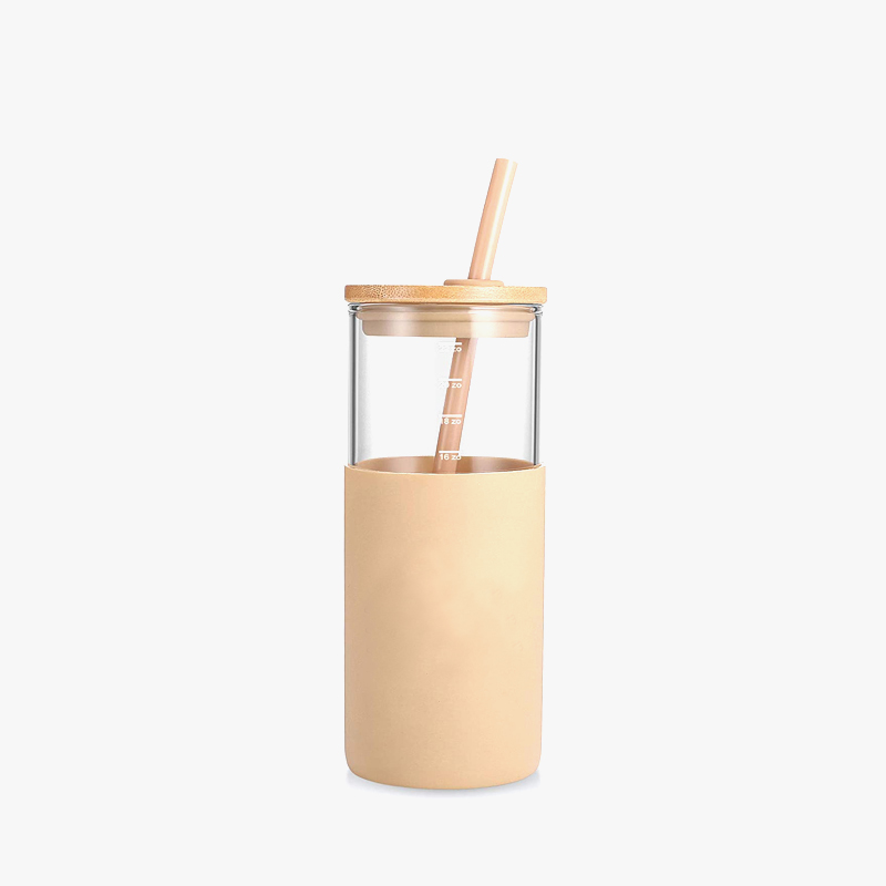 Hot sales coffee mug factory glass tumbler with straw