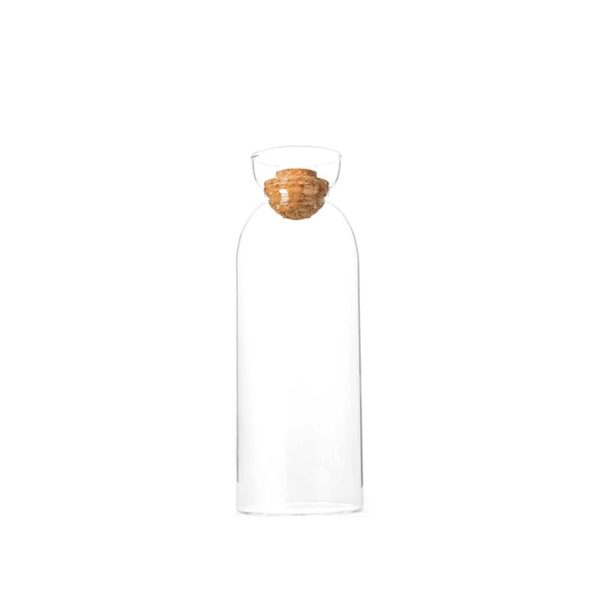 Factory custom 1000ml iced tea beverage carafe juice glass water pitcher with cork lid