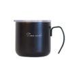 Logo printing stainless steel drinking coffee mug with handle 10oz