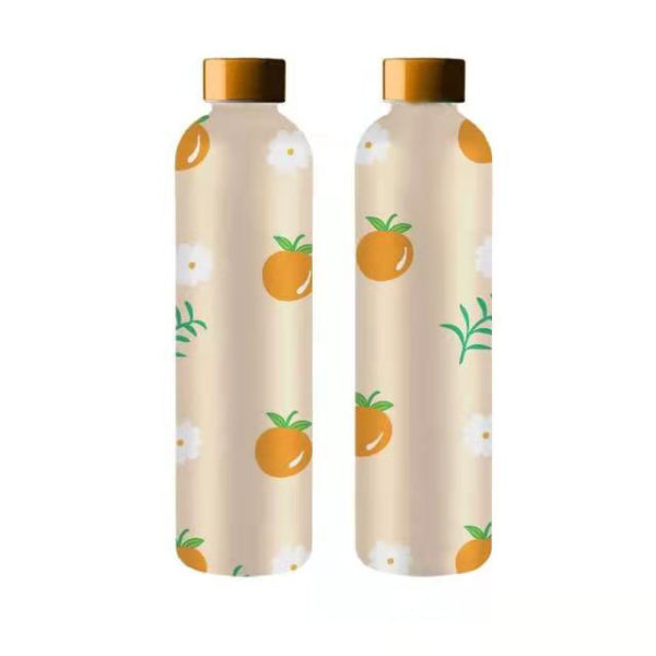 Water bottle supplier frosted carafe custom logo high borosilicate 1L water bottle