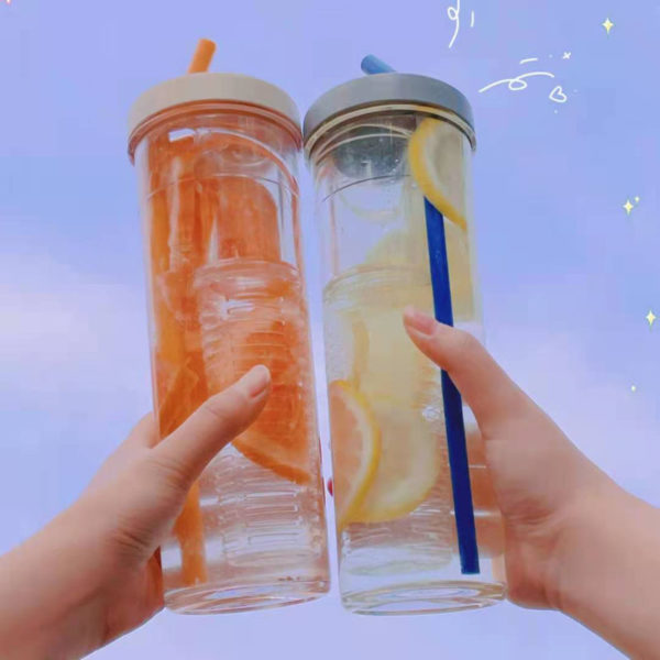 Best water bottle for this summer - fruit infuser ice water bottle